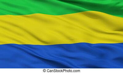 Closeup El Penon city flag, Colombia - El Penon closeup...