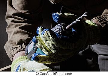 closeup electric drill