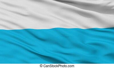 Closeup Elva city flag, Estonia - Elva closeup flag, city of...