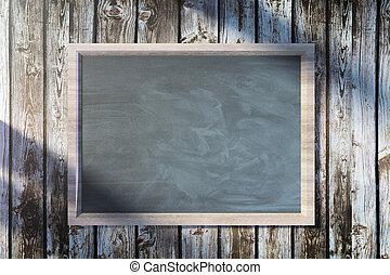 Closeup empty chalkboard poster