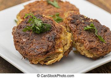 closeup falafel ready to eat