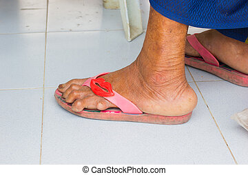 Asian mature feet