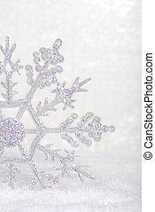 closeup, fiocco di neve