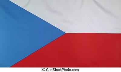 Closeup flag Czech Republic