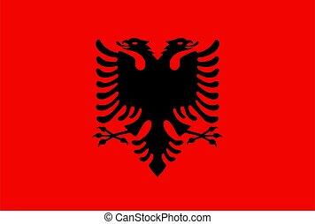 closeup flag of Albania