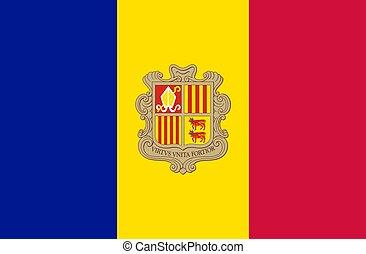 closeup flag of Andorra
