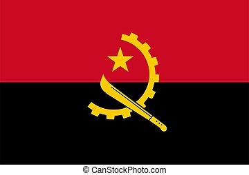 closeup flag of Angola