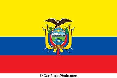 closeup flag of Ecuador