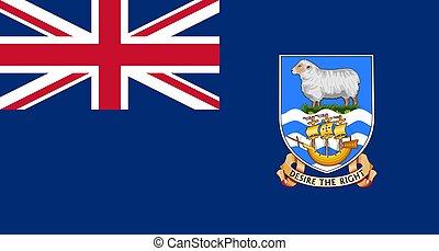 closeup flag of Falkland Islands