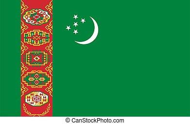 flag of Turkmenistan Republic