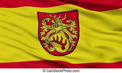 Closeup Forst city flag, Germany - Forst closeup flag, city...