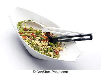 closeup, fresco, bowl., insalata