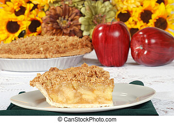 fresh apple crisp pie