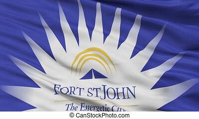 Closeup FSJ city flag, Canada - FSJ closeup flag, city of...