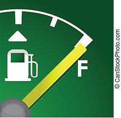 closeup Full eco green gas tank