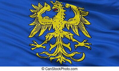 Closeup Germersheim city flag, Germany - Germersheim closeup...