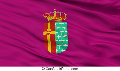 Closeup Getafe city flag, Spain - Getafe closeup flag, city...