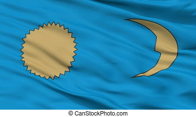 Closeup Gheorgheni city flag, Romania - Gheorgheni closeup...