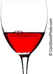 Closeup Glass of red wine