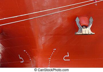 closeup, grand, bateau