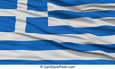 Closeup Greece Flag
