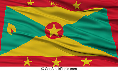 Closeup Grenada Flag