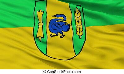 Closeup Gronau city flag, Germany - Gronau closeup flag,...