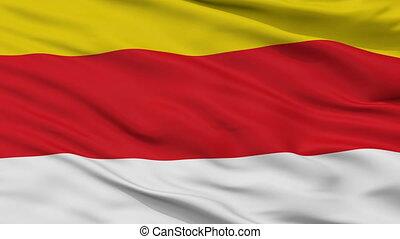 Closeup Grudziadz city flag, Poland - Grudziadz closeup...