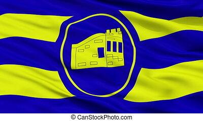 Closeup Guanica city flag, Puerto Rico - Guanica closeup...