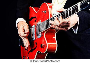 closeup guitar