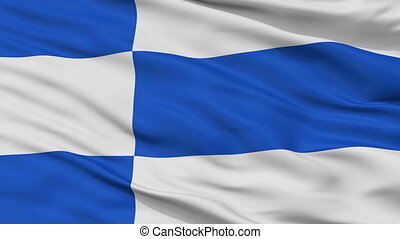 Closeup Haapsalu city flag, Estonia - Haapsalu closeup flag,...
