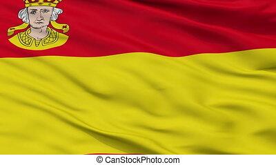 Closeup Hagenow city flag, Germany - Hagenow closeup flag,...