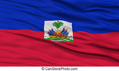 Closeup Haiti Flag