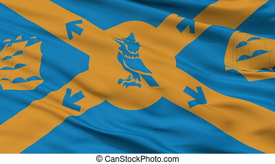 Closeup Halifax city flag, Canada - Halifax closeup flag,...