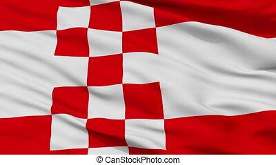 Closeup Hamm city flag, Germany - Hamm closeup flag, city of...