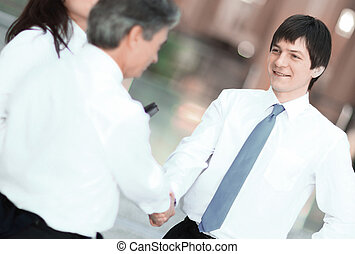 closeup .handshake business people in the office