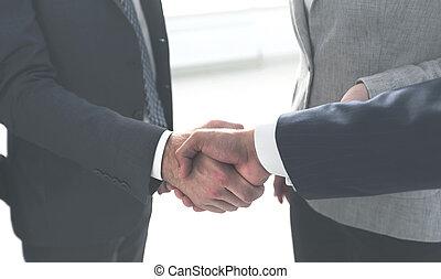 closeup. handshake of business people