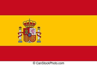 closeup, hiszpania bandera