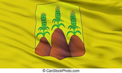 Closeup Horki city flag, Belarus - Horki closeup flag, city...