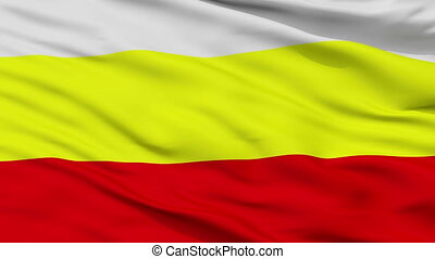 Closeup Hradec Kralove city flag, Czech Republic - Hradec...