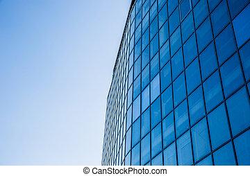 Closeup image of a business building