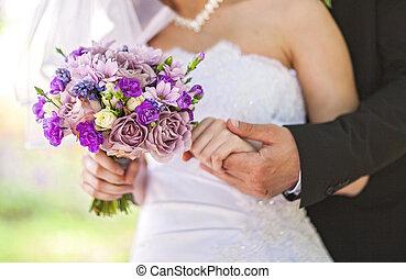 wedding bouquet - Closeup image of beautiful wedding bouquet