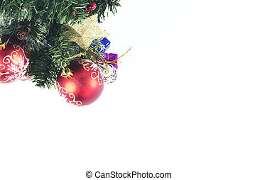 Closeup image of Christmas background with festival decoration