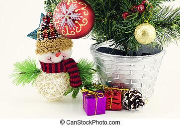 closeup image of christmas decoration