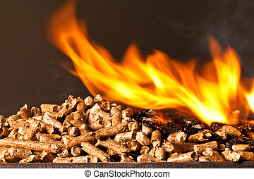 wood pellet - closeup image of wood pellets