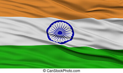 Closeup India Flag