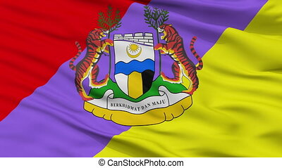 Closeup Ipoh Perak city flag, Malaysia - Ipoh Perak closeup...