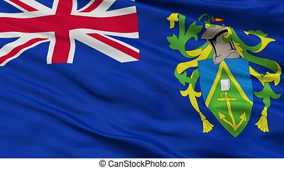Closeup Islands city flag, Pitcairn - Islands closeup flag,...