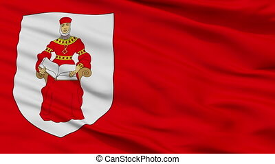 Closeup Iuje city flag, Belarus - Iuje closeup flag, city of...