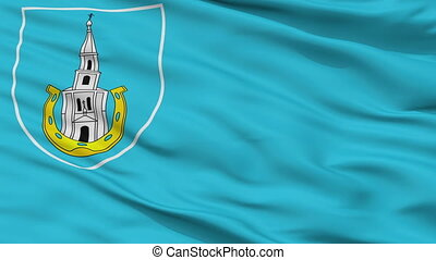 Closeup Janau city flag, Belarus - Janau closeup flag, city...